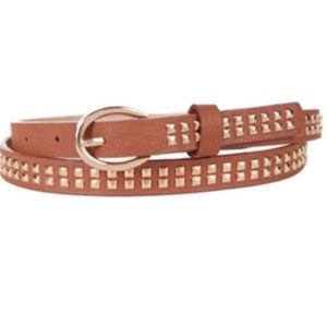 Lulu Gold Studded Brown Belt